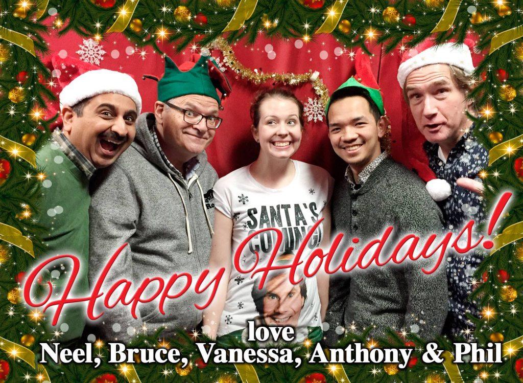 Neel, Bruce, Vanessa, Anthony, and Phil